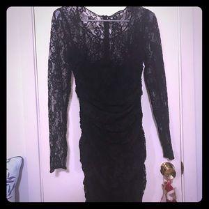 Dolce and Gabbana Chiffon and Lace Dress